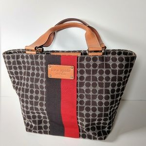 Kate Spade Dot Noel canvas and leather tote